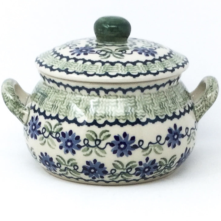 Covered Tureen 1 qt in Blue & Green Flowers