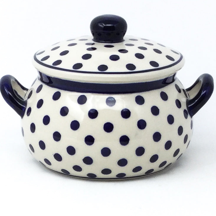 Covered Tureen 1 qt in Blue Polka-Dot