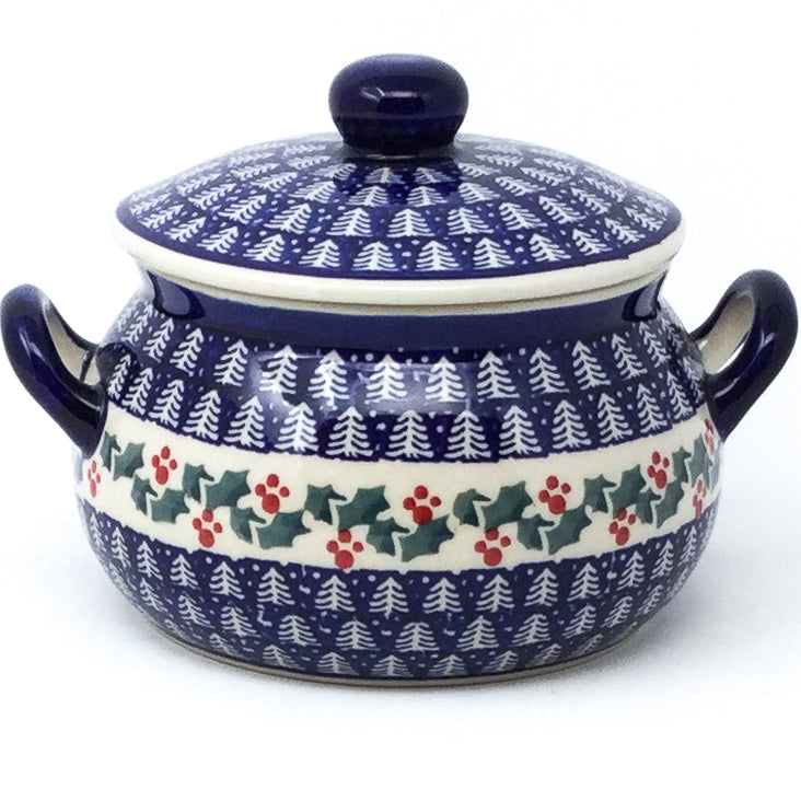 Covered Tureen 1 qt in Winter Holly