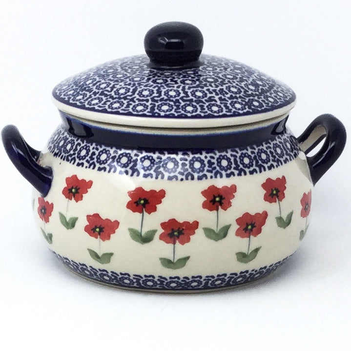 Covered Tureen 1 qt in Red Daisy