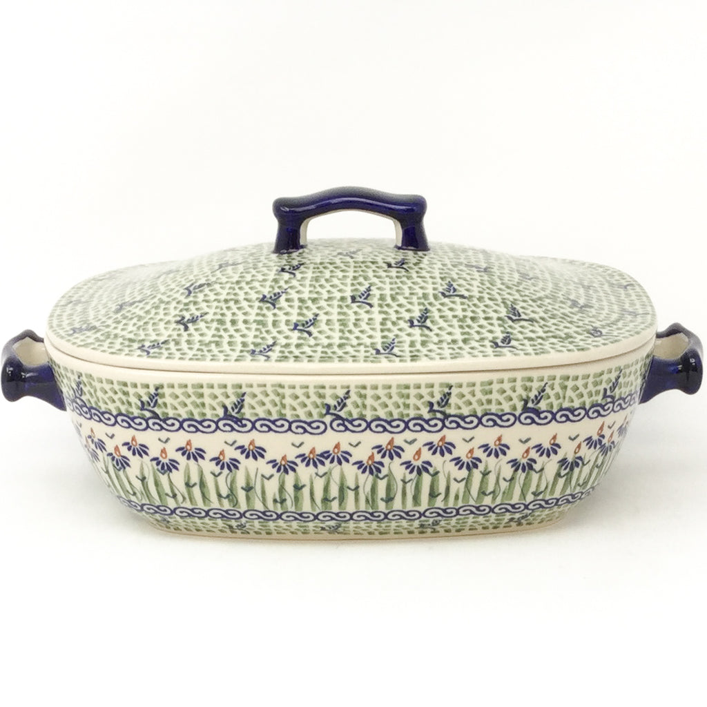 Covered Rect. Baker 3 qt in Blue Iris