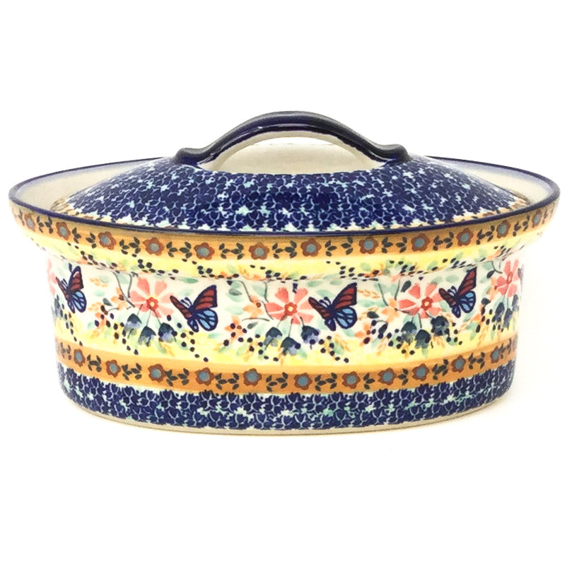 Oval Server w/Cover 1 qt in Butterfly Meadow