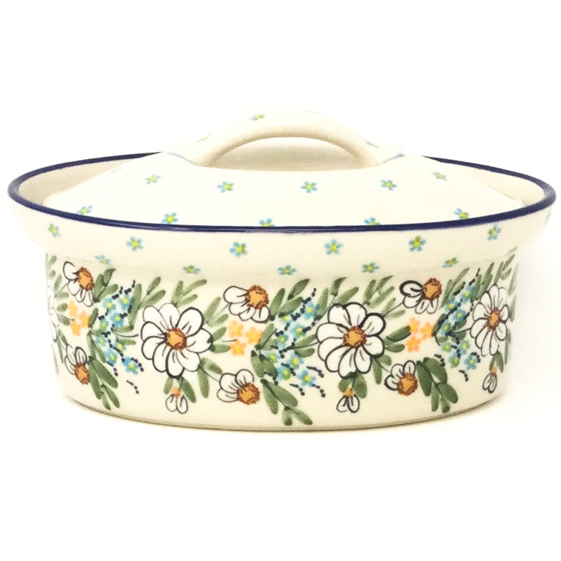 Oval Server w/Cover 1 qt in Spectacular Daisy