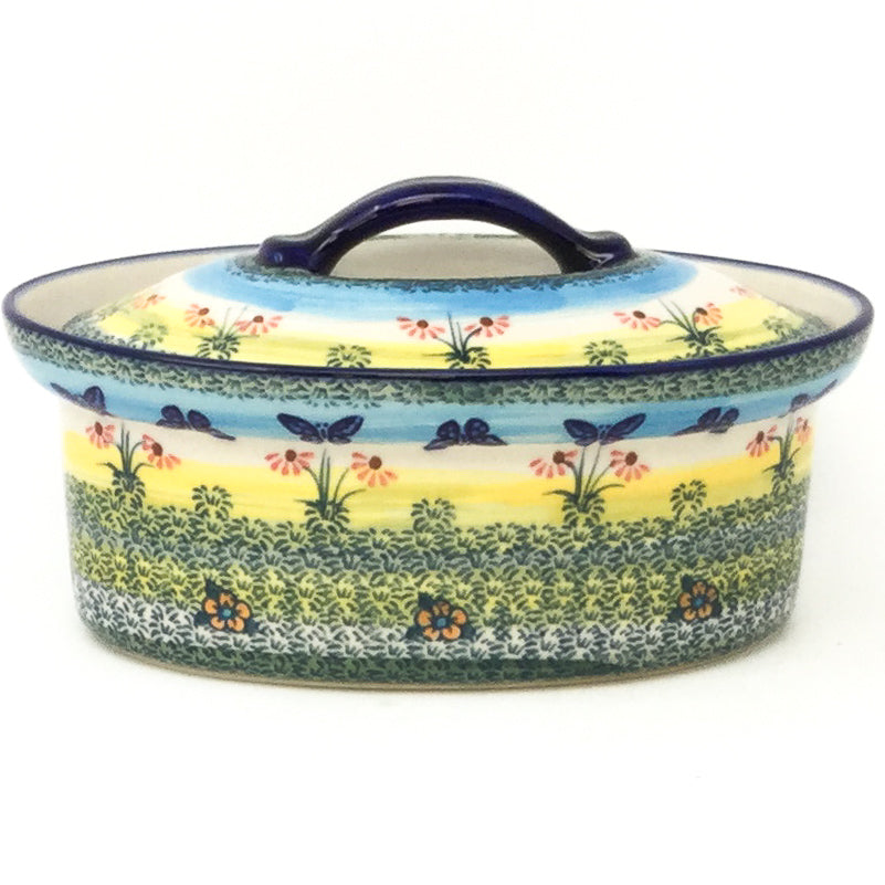 Oval Server w/Cover 1 qt in Butterfly Field