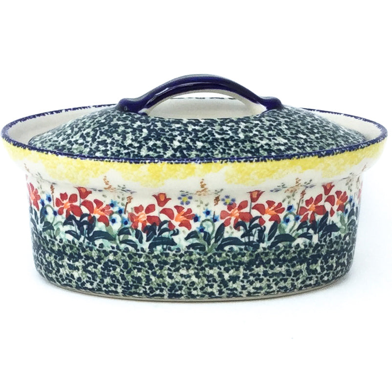 Oval Server w/Cover 1 qt in Country Summer