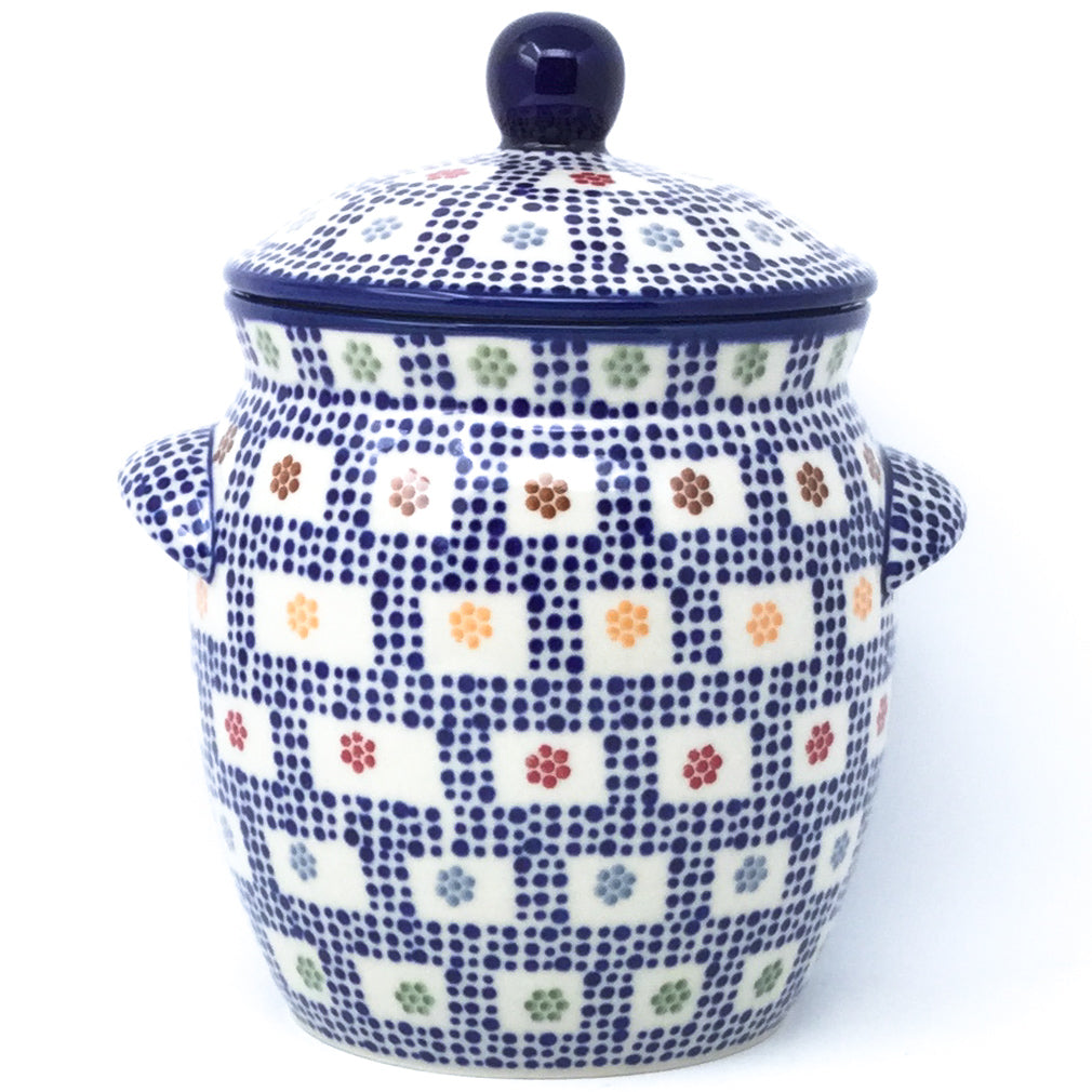 Sm Canister w/Handles in Modern Checkers