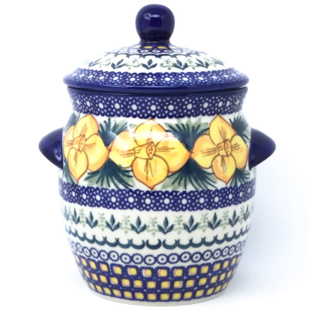 Sm Canister w/Handles in Daffodils