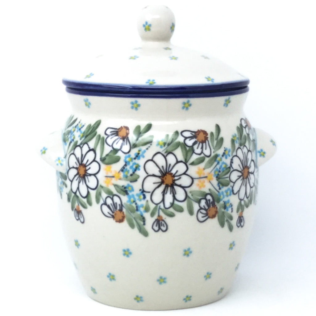 Sm Canister w/Handles in Spectacular Daisy