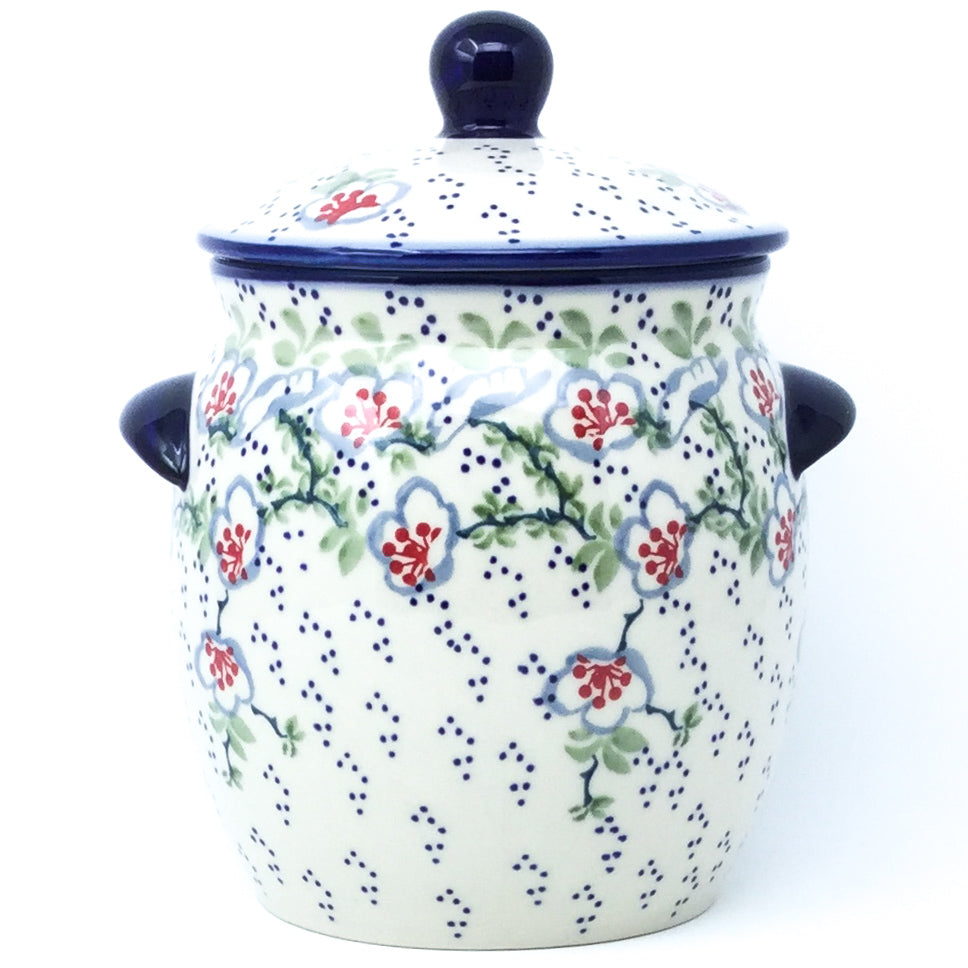 Md Canister w/Handles in Japanese Garden