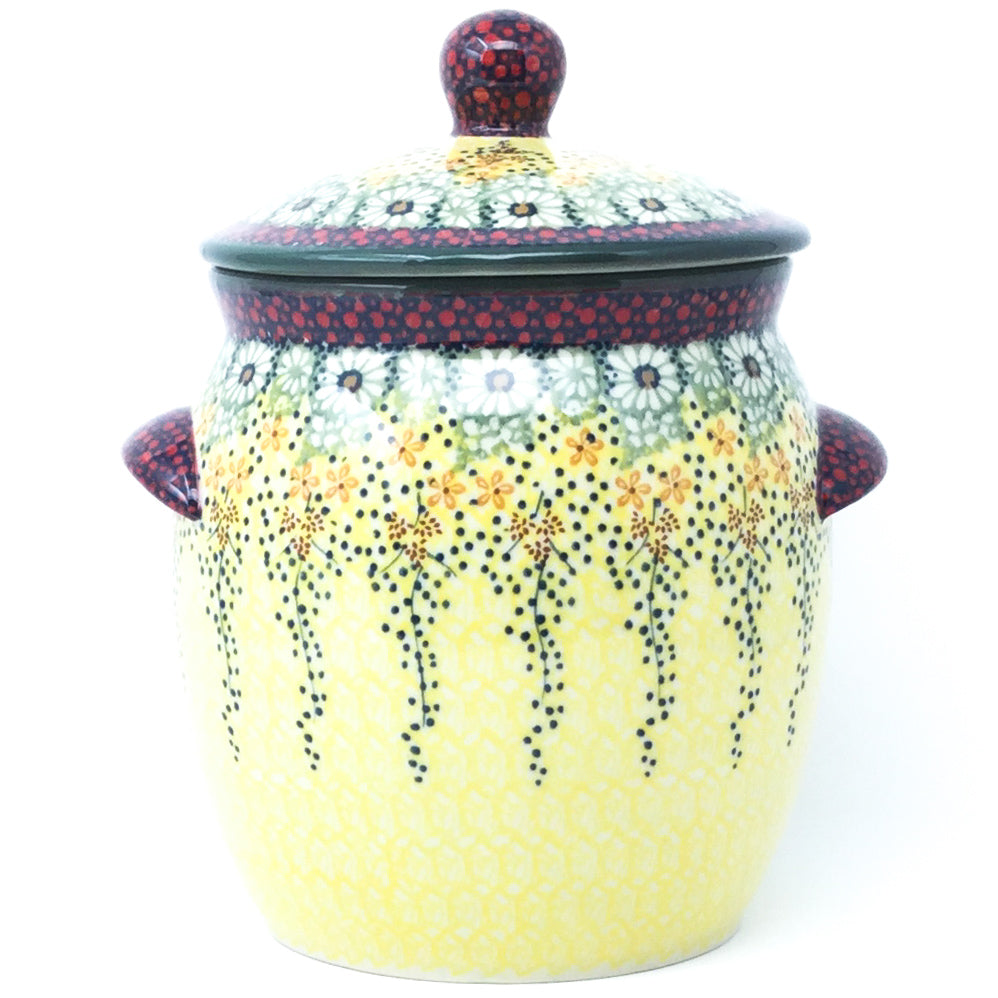 Md Canister w/Handles in Cottage Decor