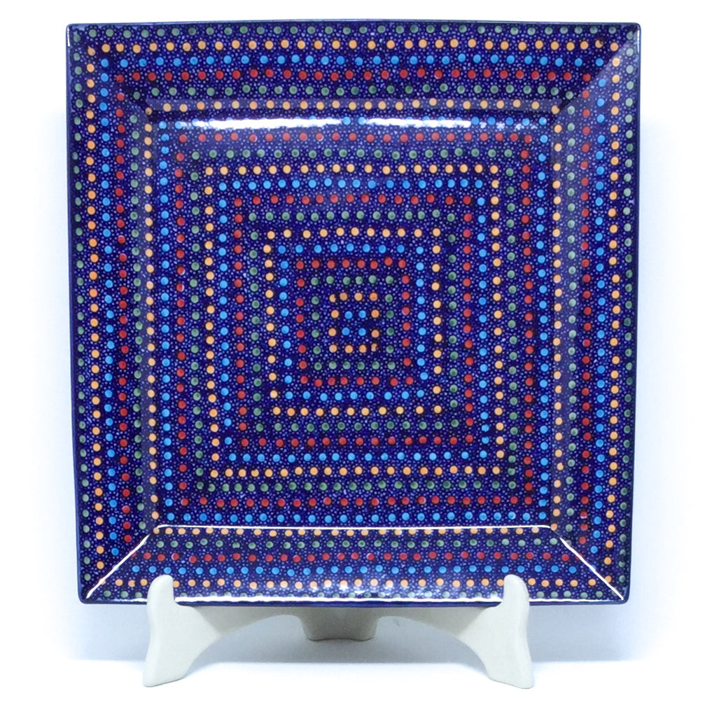 Square Platter in Multi-Colored Dots