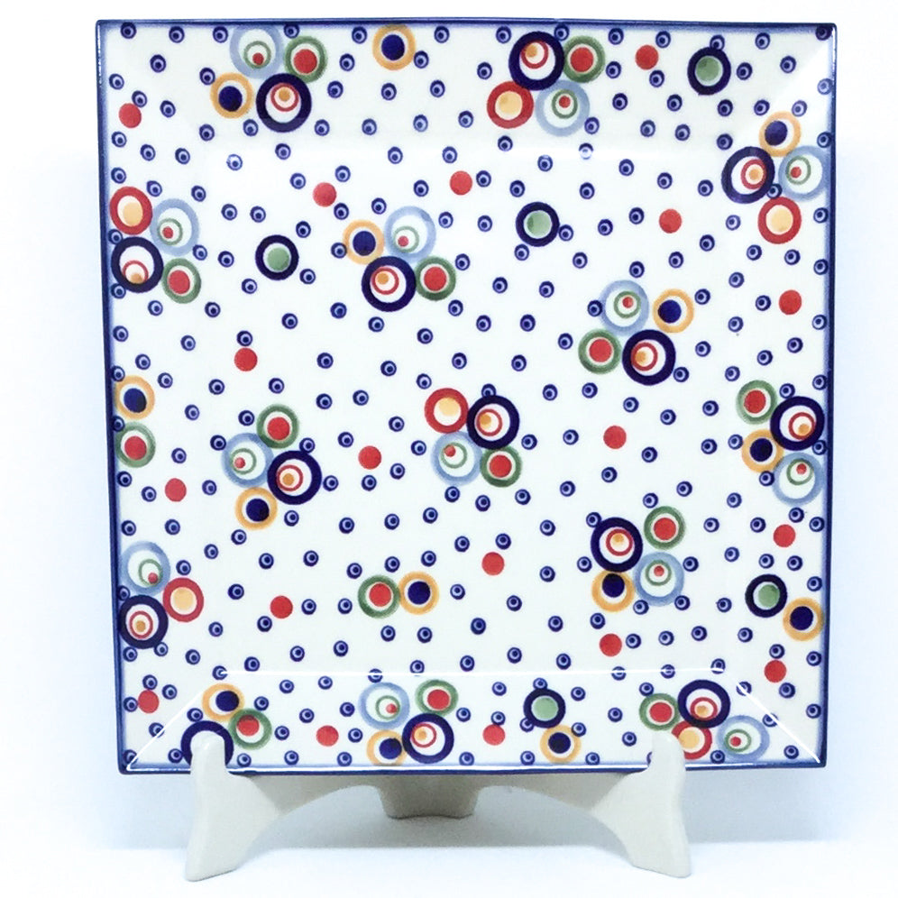 Square Platter in Modern Circles