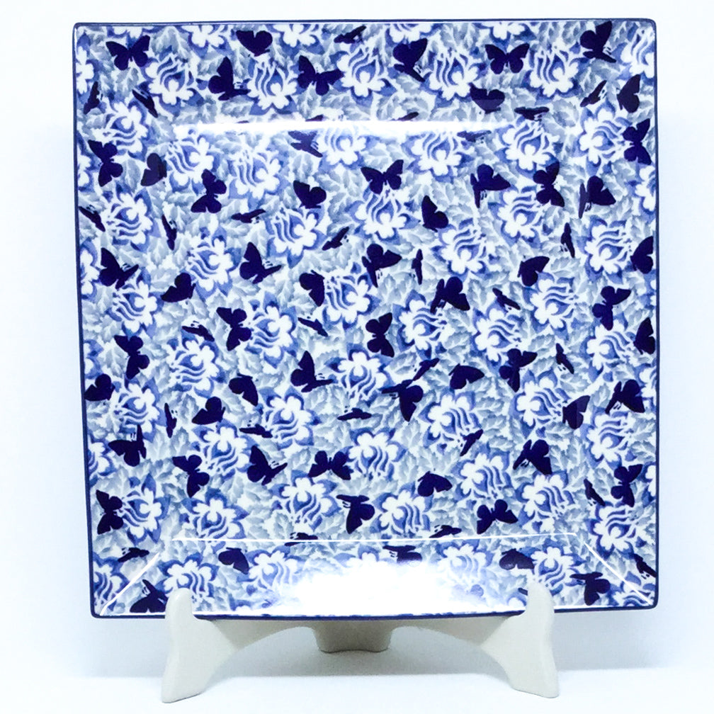 Square Platter in Blue Butterfly
