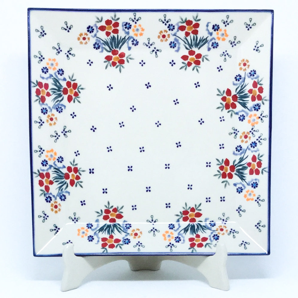 Square Platter in Delicate Flowers