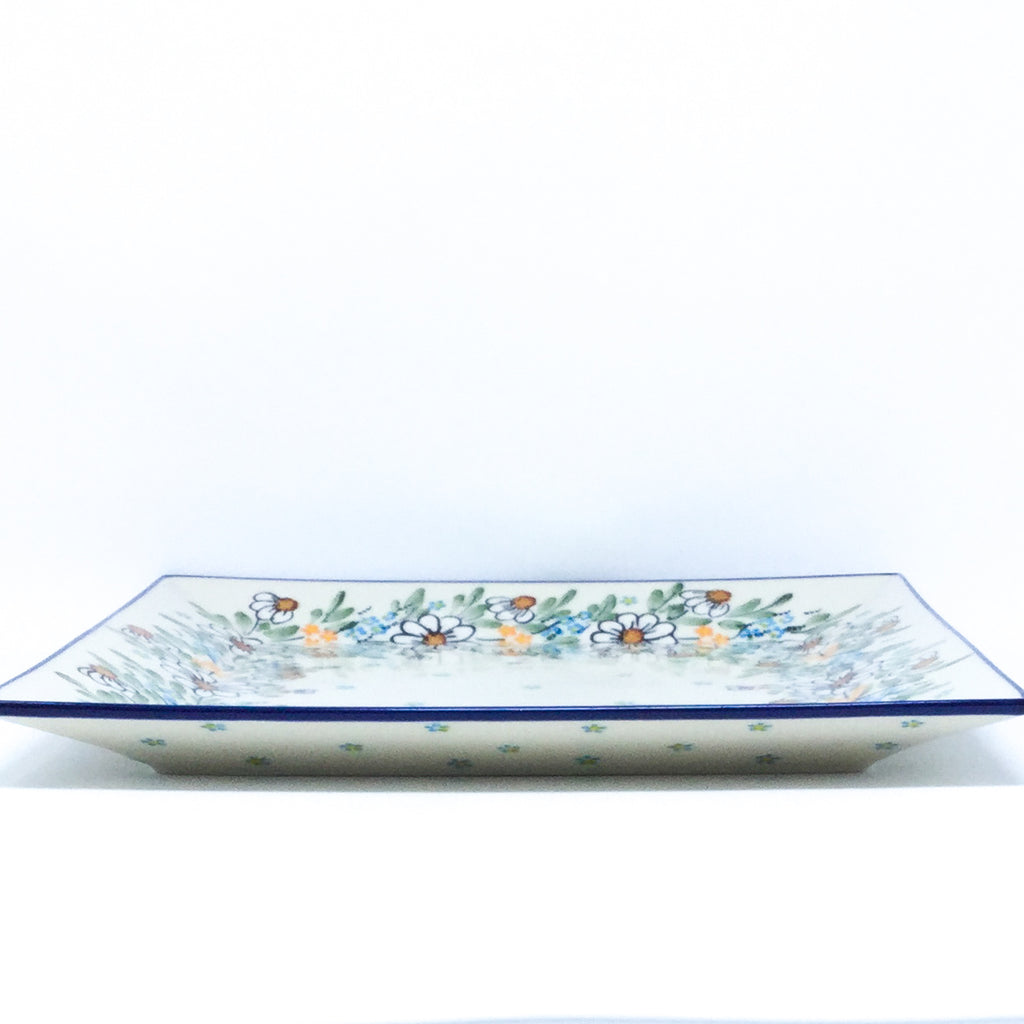 Square Platter in Spectacular Daisy