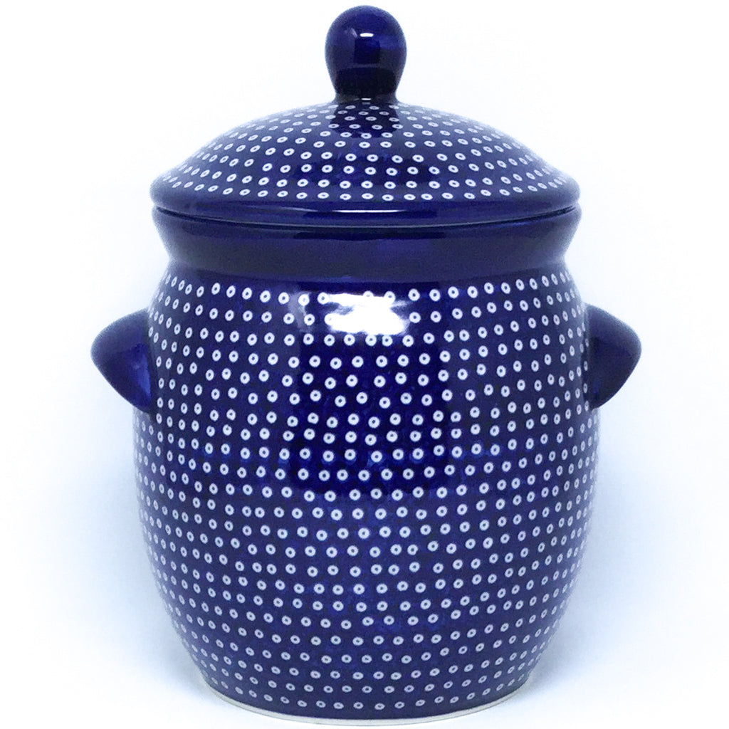 Lg Canister w/Handles in Blue Elegance