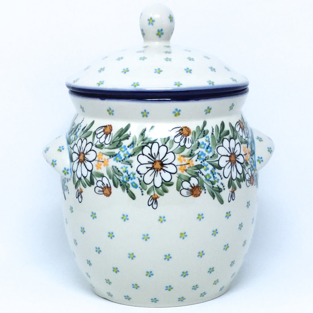 Lg Canister w/Handles in Spectacular Daisy