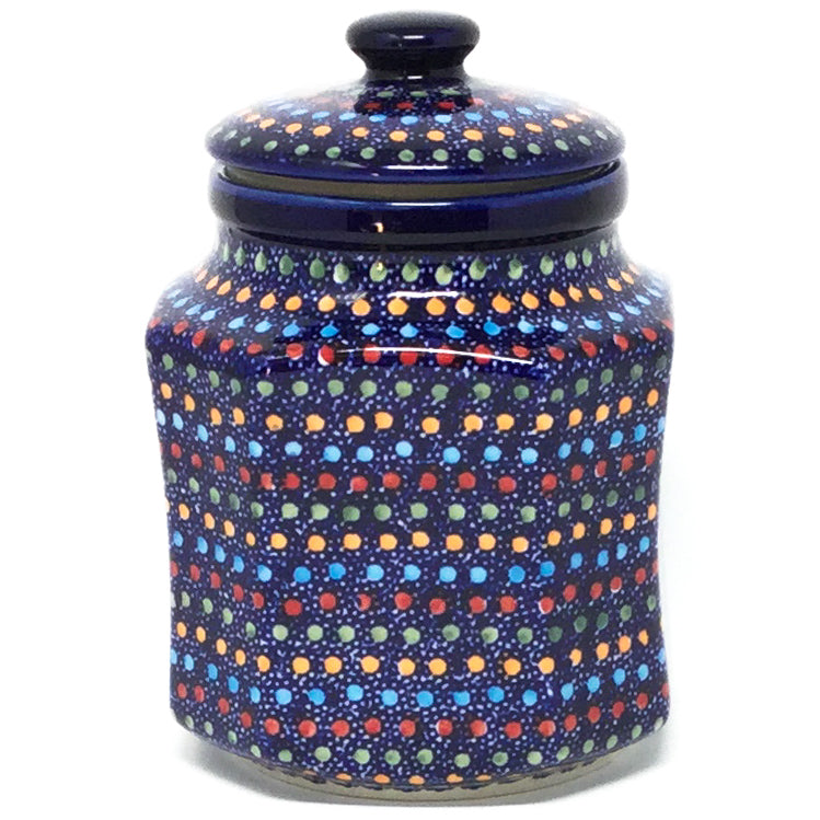 Sm Airtight Canister in Multi-Colored Dots