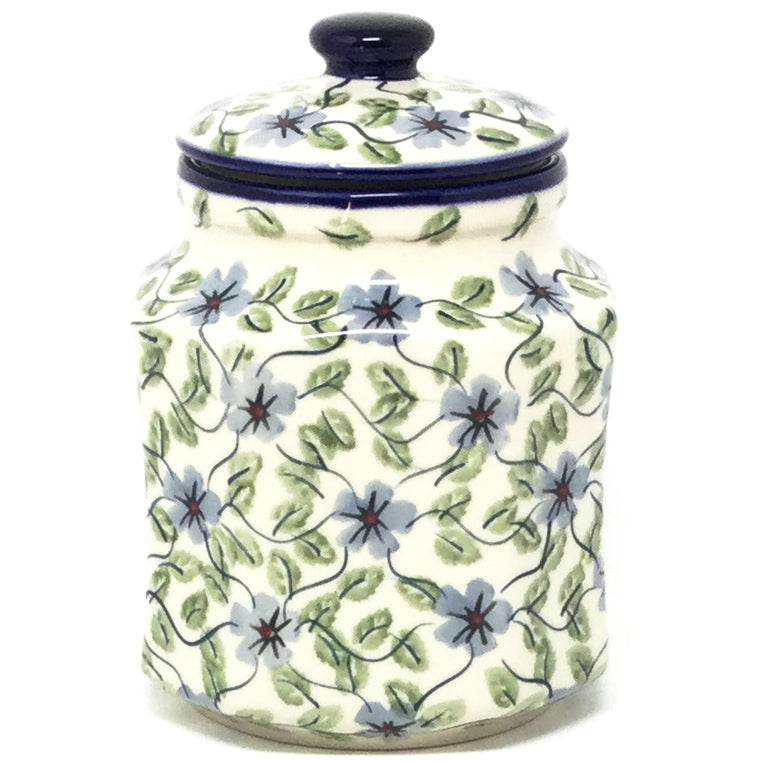 Sm Airtight Canister in Blue Clematis