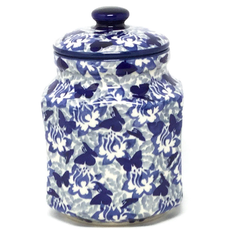 Sm Airtight Canister in Blue Butterfly