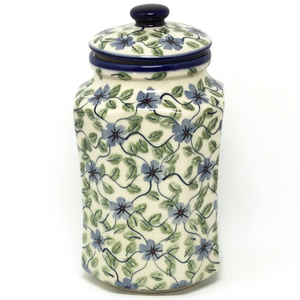Md Airtight Canister in Blue Clematis