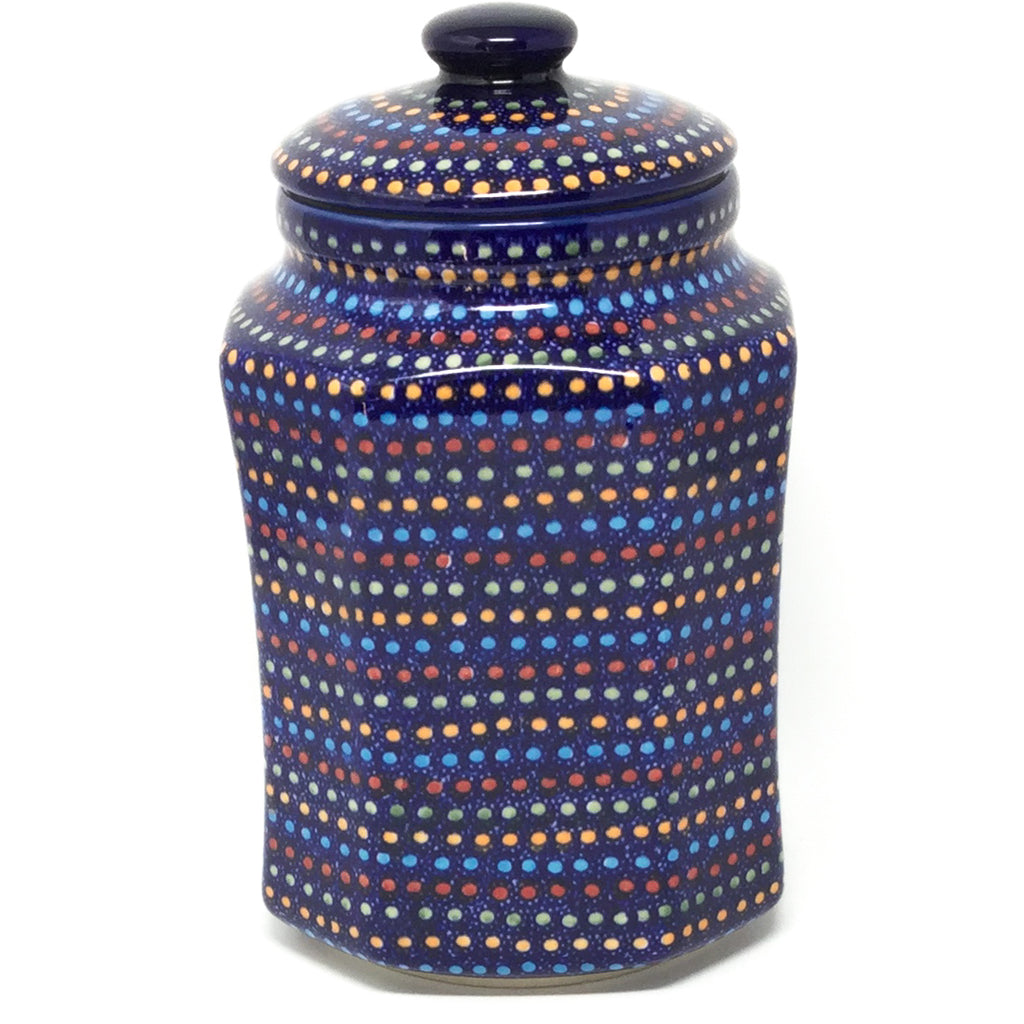 Lg Airtight Canister in Multi-Colored Dots