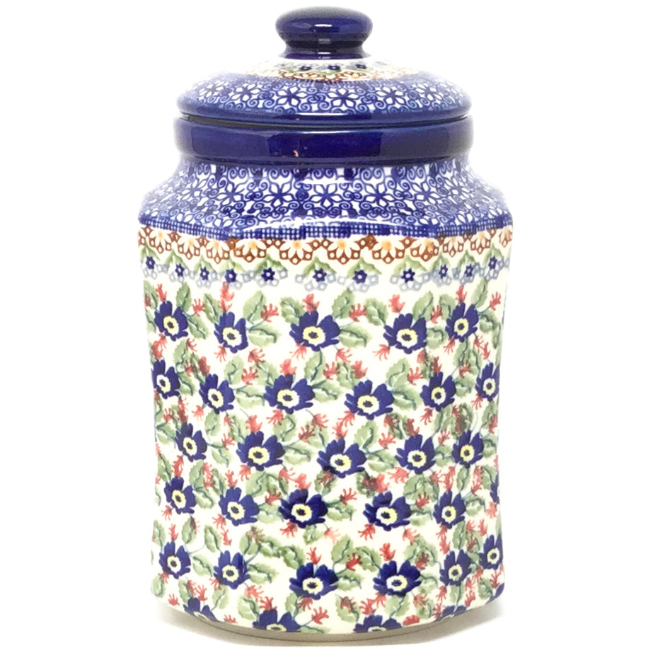 Lg Airtight Canister in Forget-Me-Not