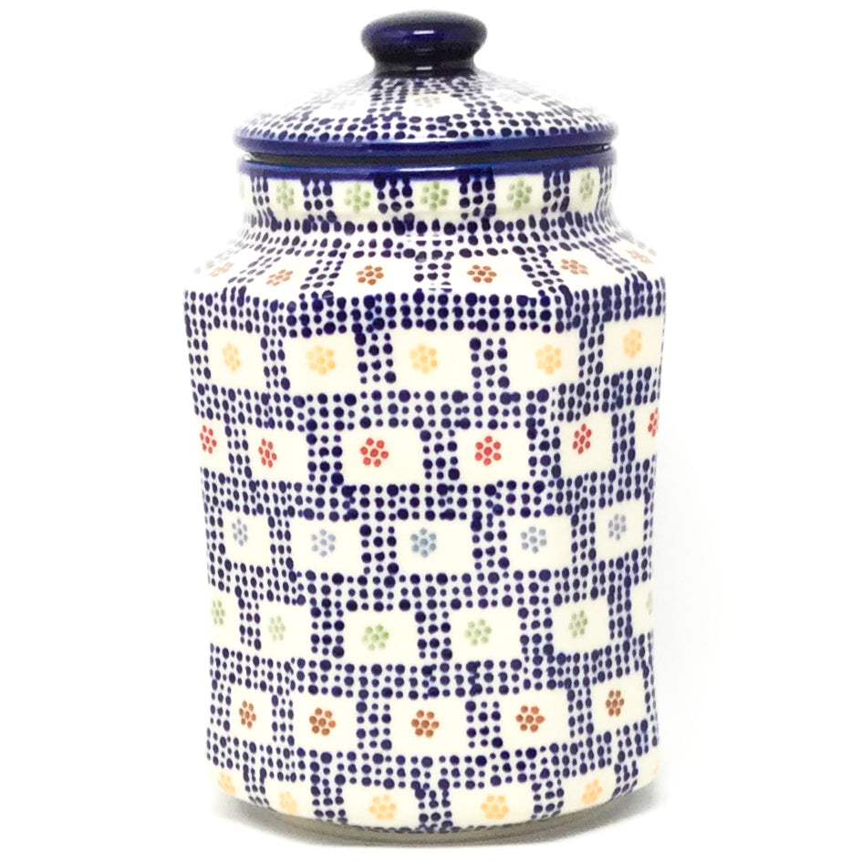 Lg Airtight Canister in Modern Checkers