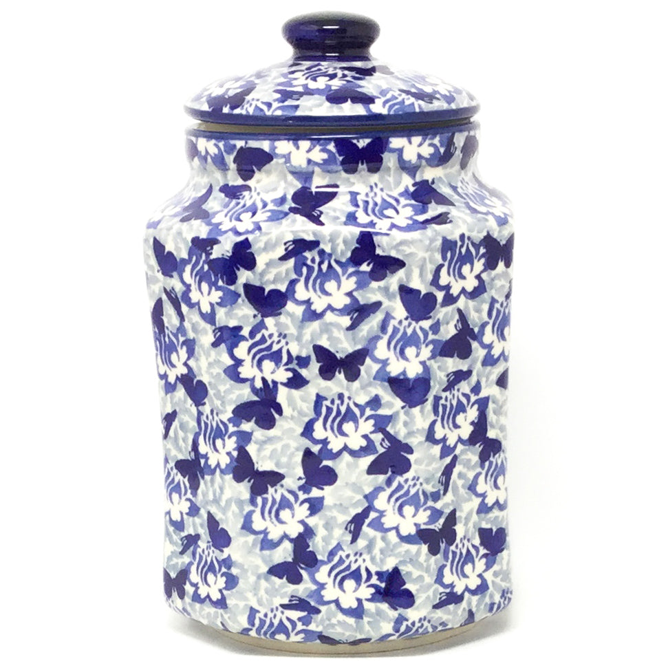 Lg Airtight Canister in Blue Butterfly