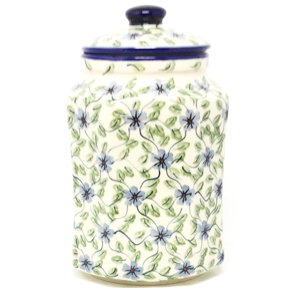 Lg Airtight Canister in Blue Clematis