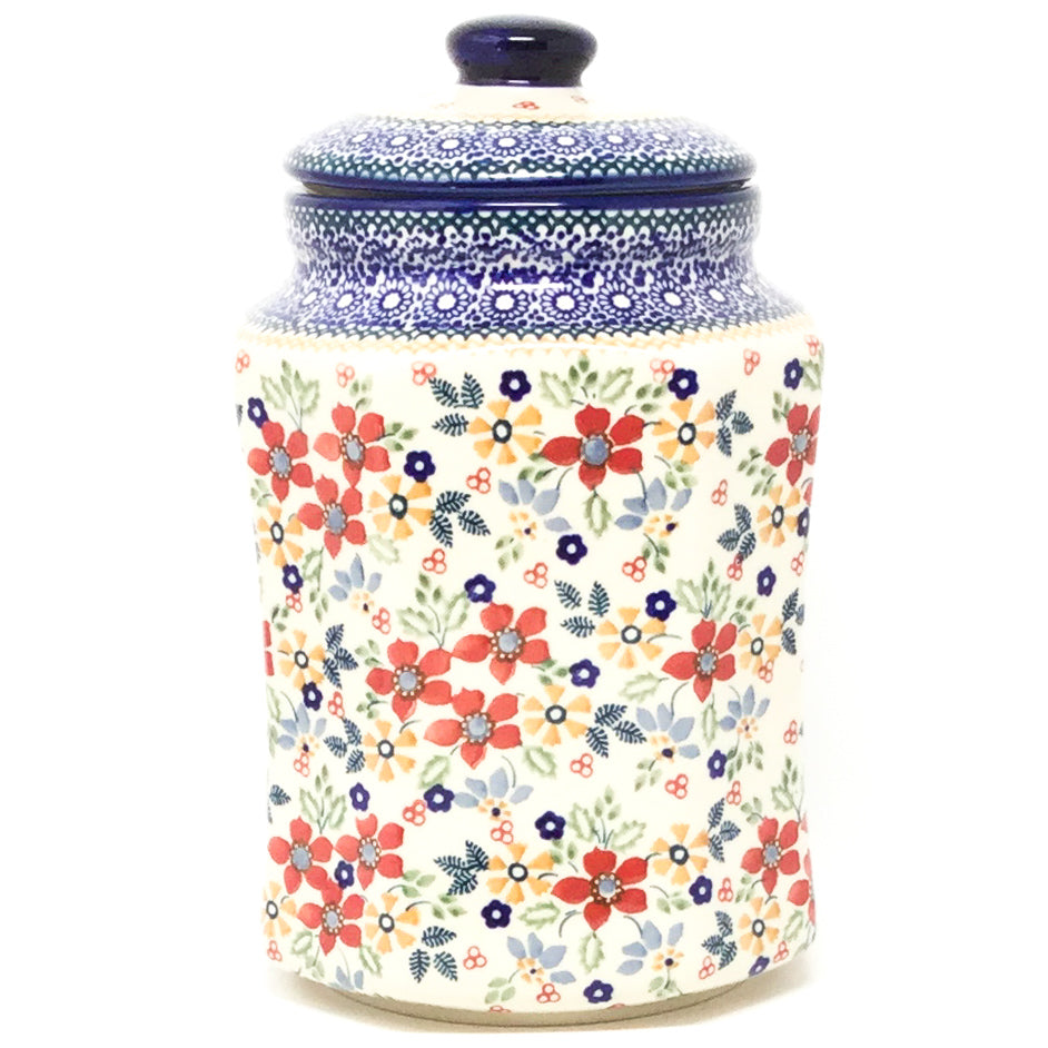 Lg Airtight Canister in Summer Bouquet