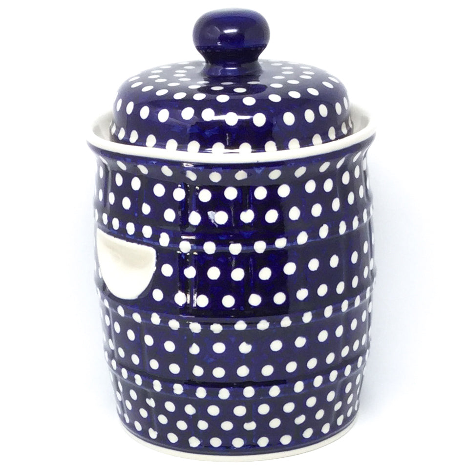 Pickling Barrel 7 qt in White Polka-Dot