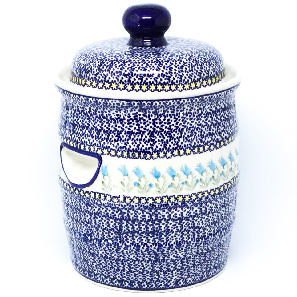 Pickling Barrel 7 qt in Blue Tulips