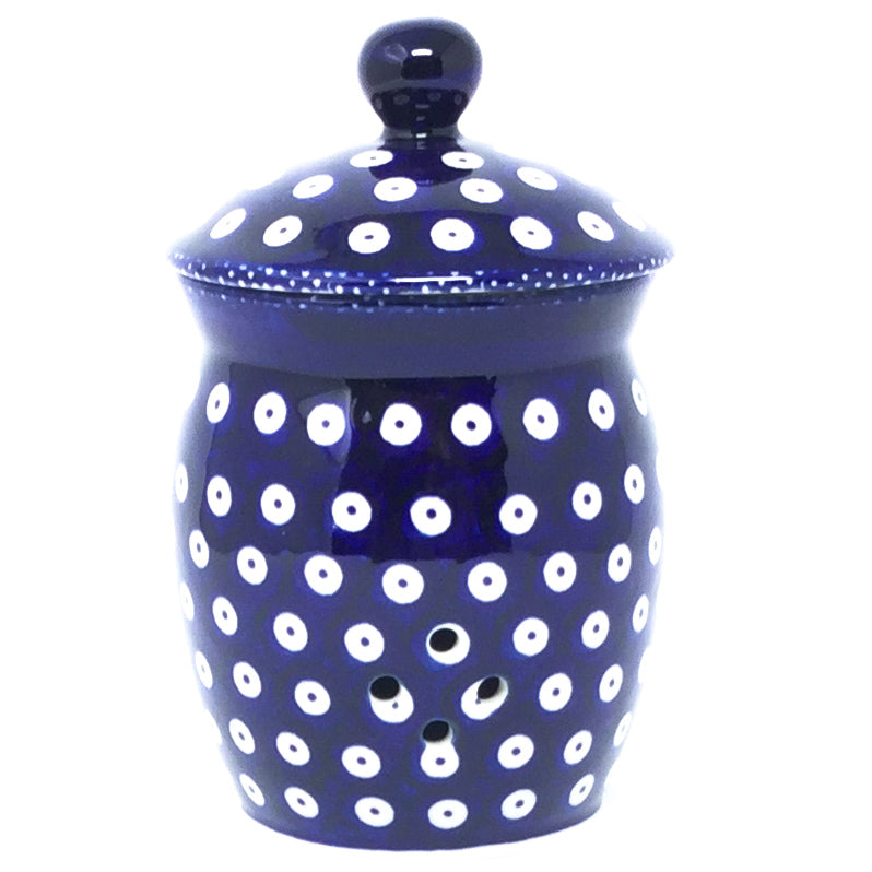 Garlic Keeper 1 qt in Traditional Blue