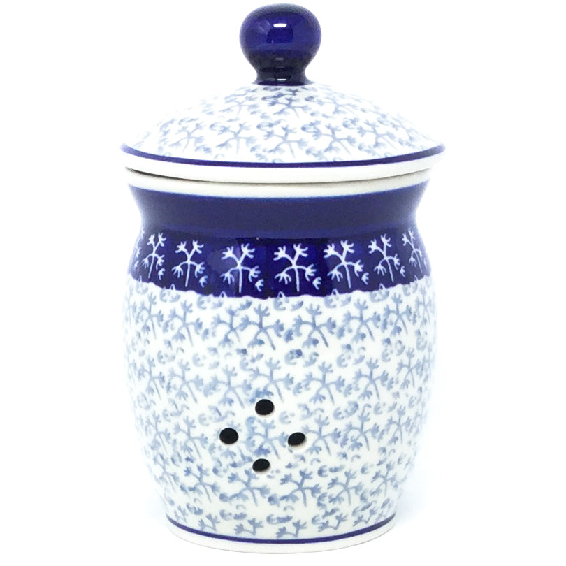 Garlic Keeper 1 qt in Light & Dark Snowflake