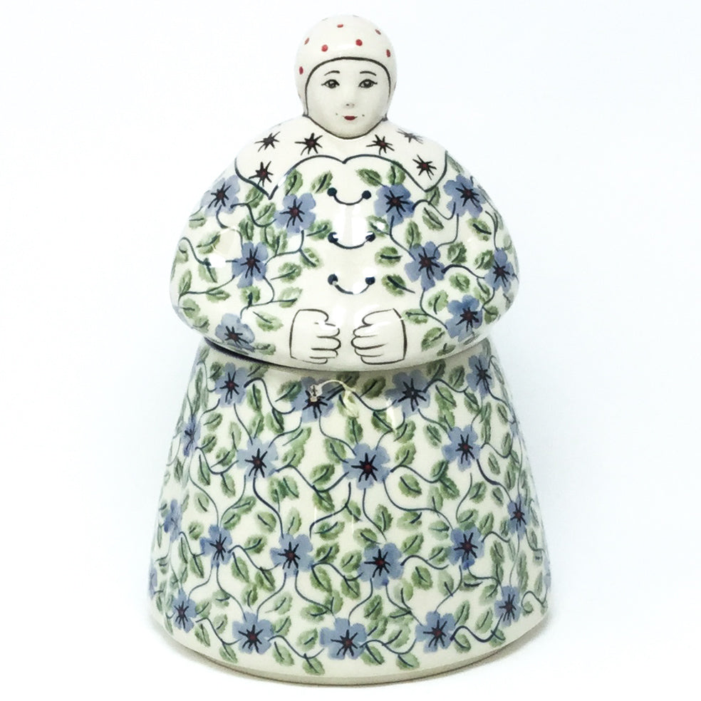 Babcia Cookie Jar in Blue Clematis