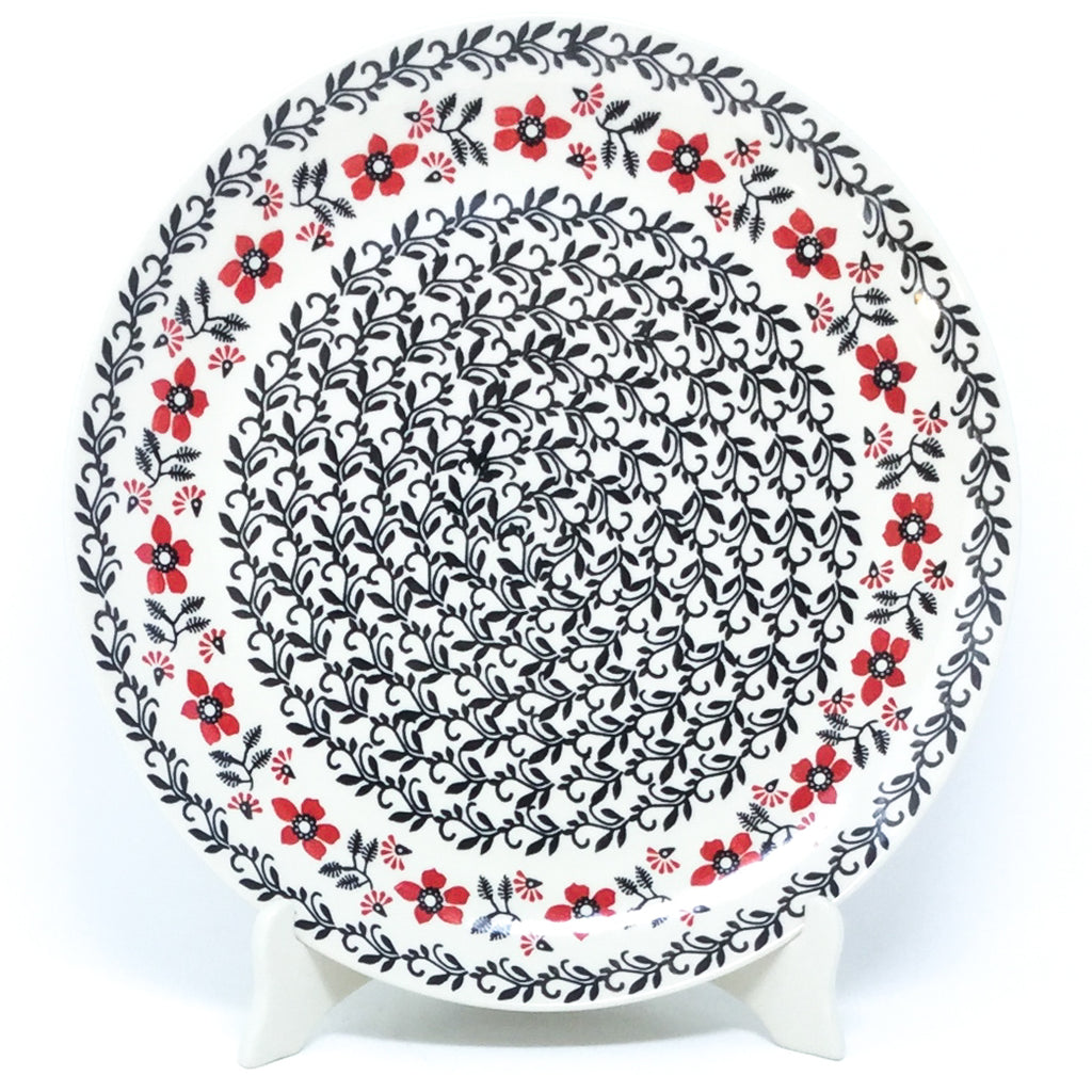 "Round Platter 12.5"" in Red & Black"