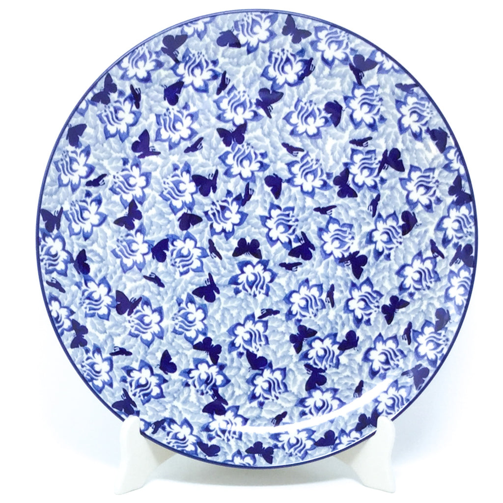 "Round Platter 12.5"" in Blue Butterfly"