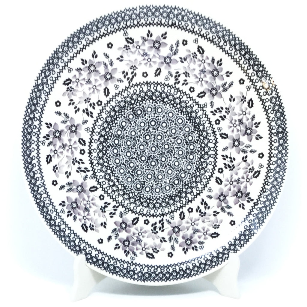 "Round Platter 12.5"" in Gray & Black"