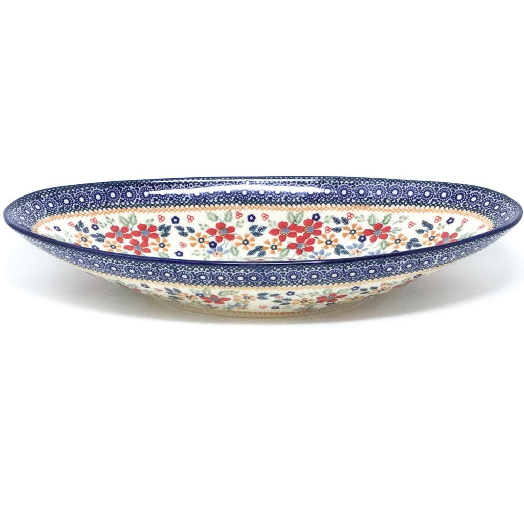 Lg Modern Oval Server in Summer Bouquet