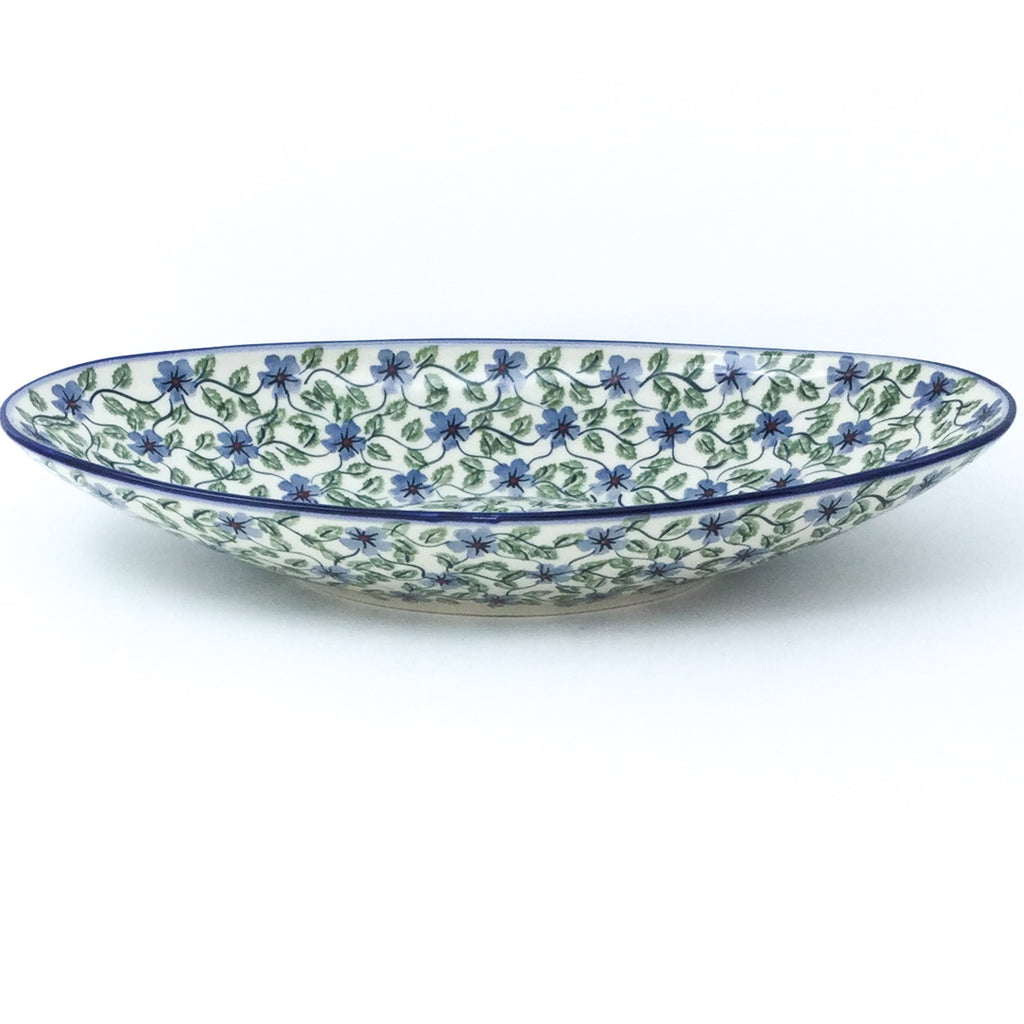 Lg Modern Oval Server in Blue Clematis