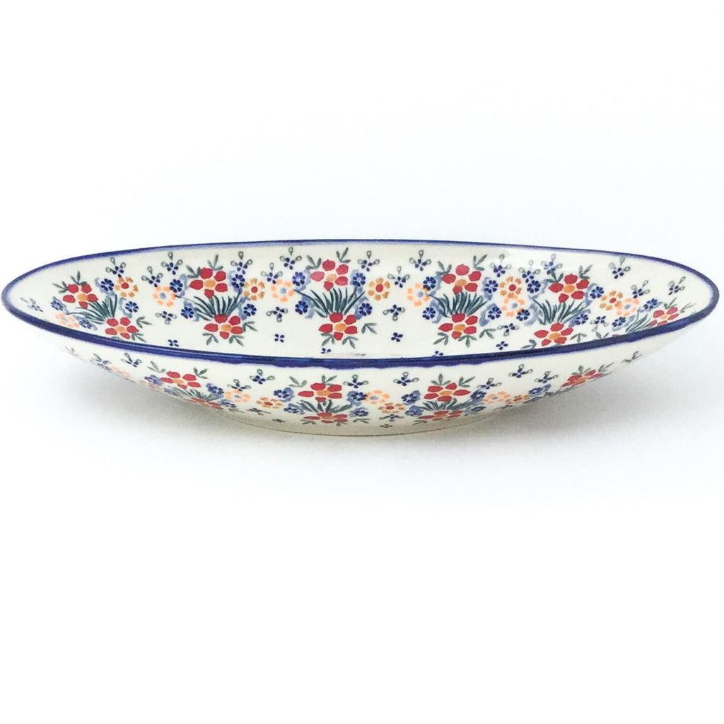 Lg Modern Oval Server in Delicate Flowers