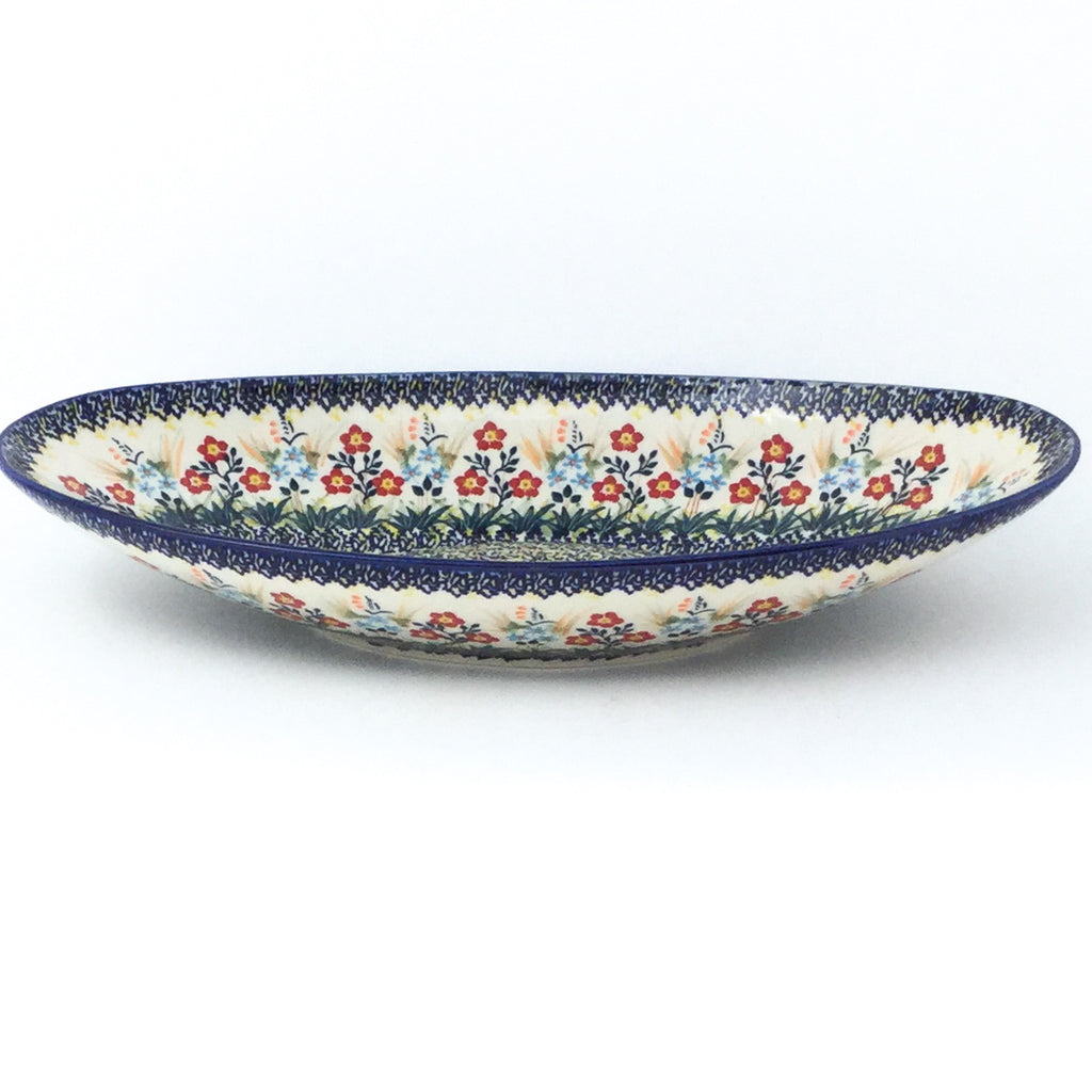 Lg Modern Oval Server in Autumn Bouquet