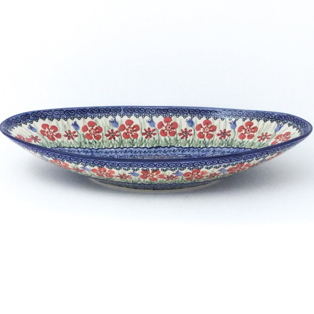 Lg Modern Oval Server in Spring Meadow