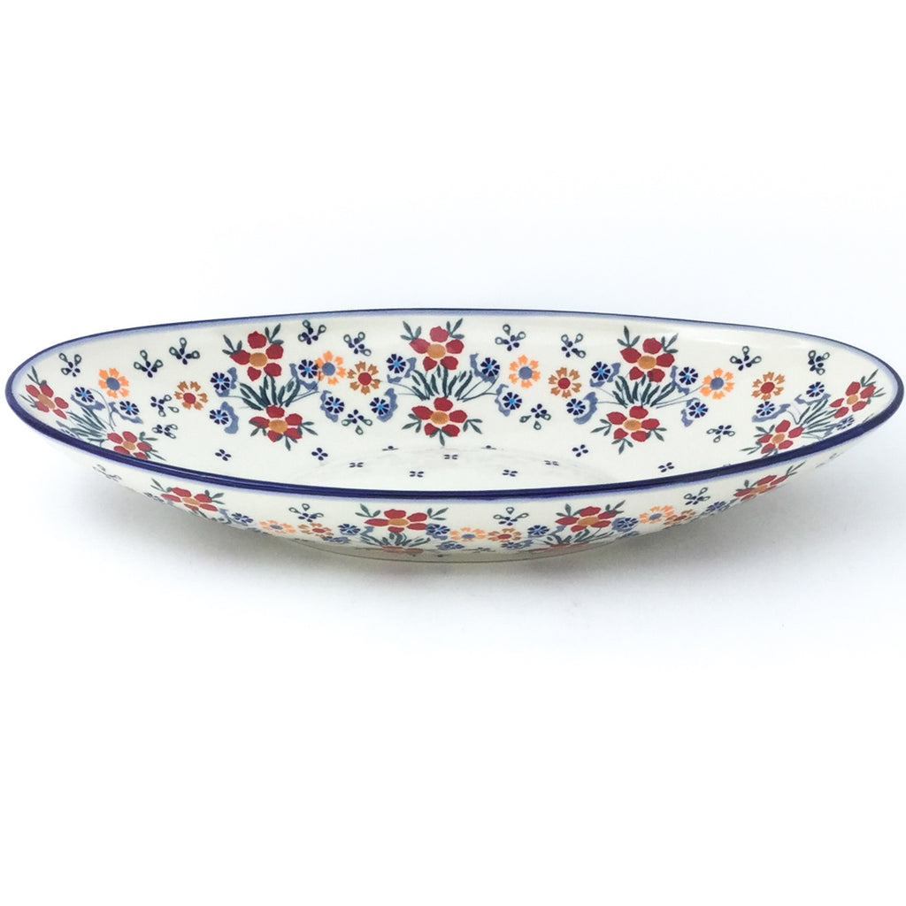 Sm Modern Oval Server in Delicate Flowers