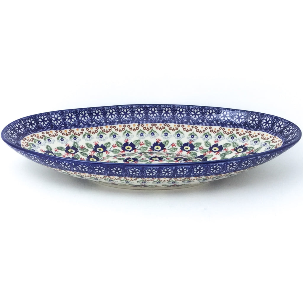 Sm Modern Oval Server in Forget-Me-Not