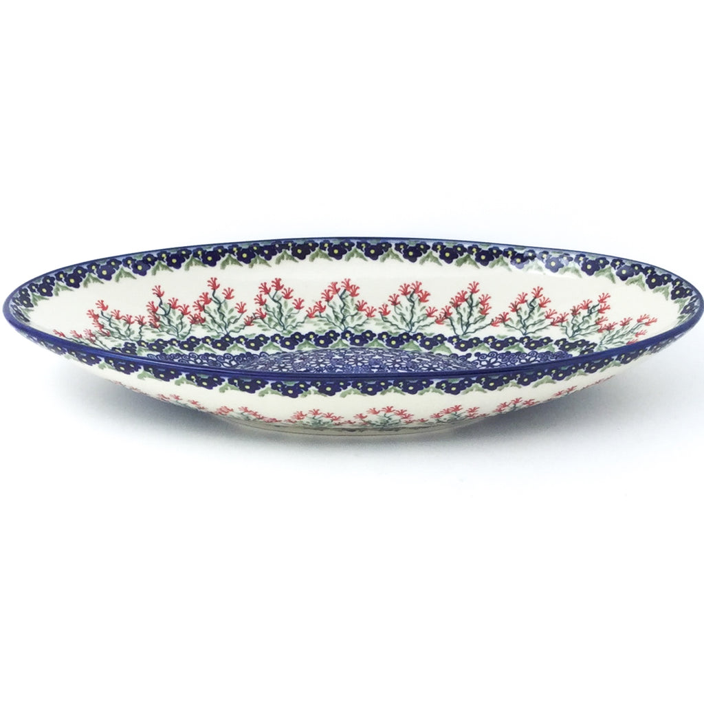 Sm Modern Oval Server in Field of Flowers