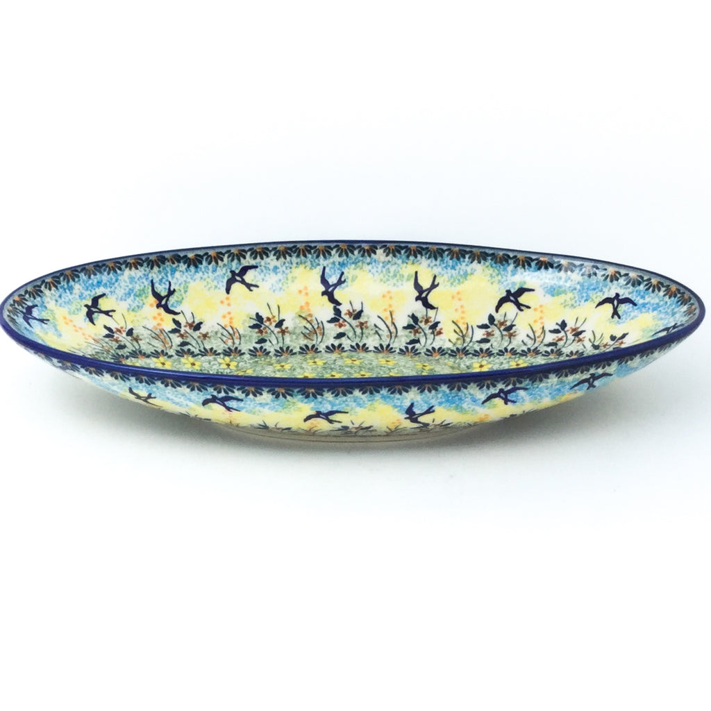 Sm Modern Oval Server in Birds