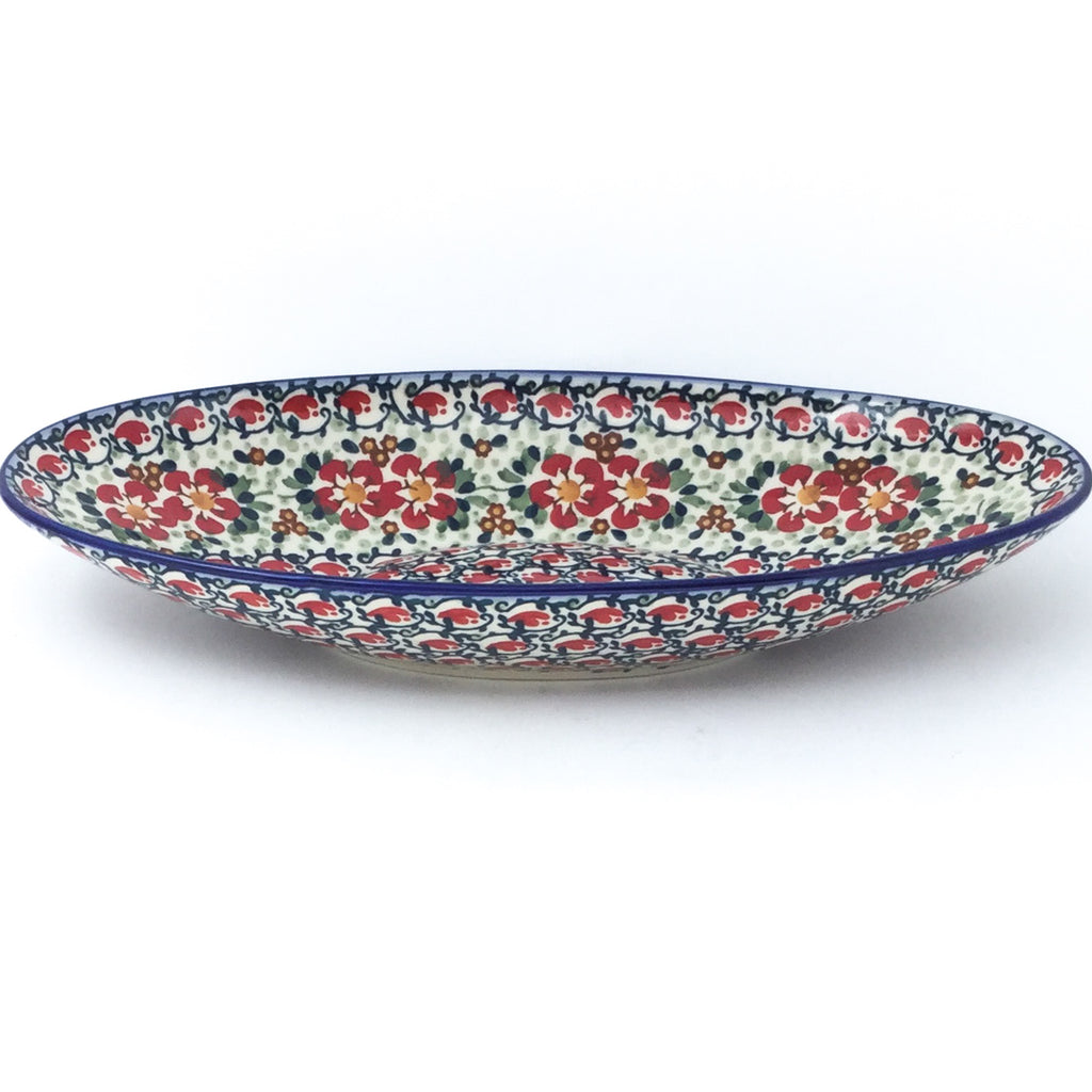 Sm Modern Oval Server in Red Poppies