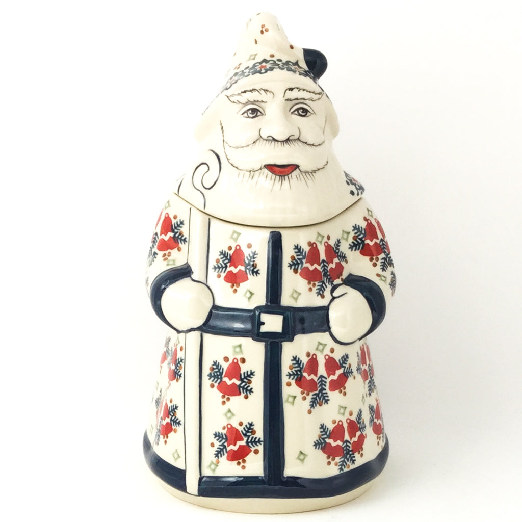 Santa Cookie Jar in Christmas Bells